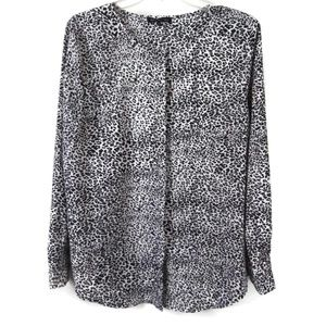 VIOLET & CLAIRE Black and White Button Down Shirt